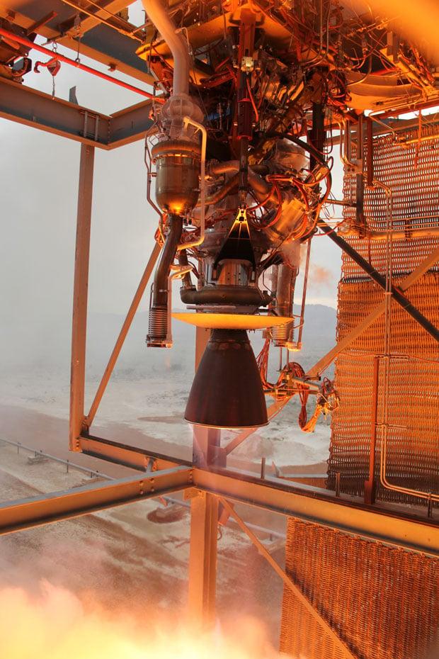The Blue Origin BE-3 rocket engine