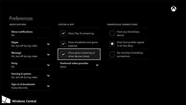Xbox Dashboard Streaming