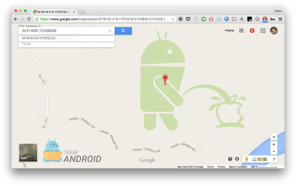 Android Peeing On Apple
