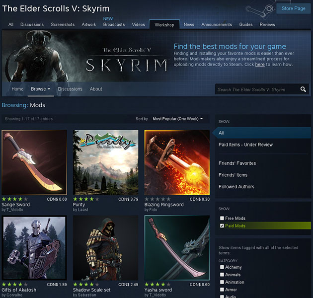 Steam Skyrim