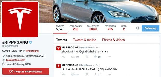Hackers Deface Tesla Website, Hijack Tesla And Elon Musk's