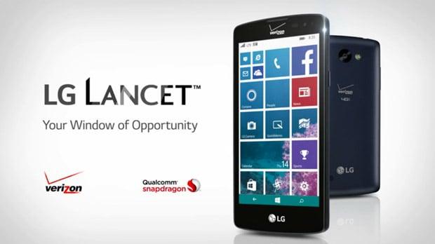 lg s budget lancet windows phone lands on verizon wireless for