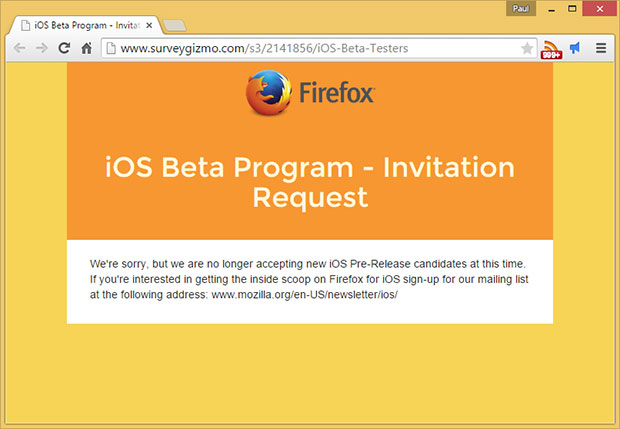 Mozilla Opens Firefox For iOS Beta To Testers | HotHardware
