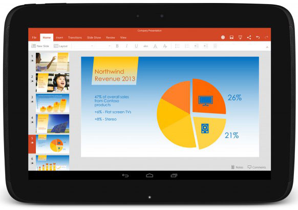 Microsoft is partnering with OEMs to preinstall Office on Android tablets