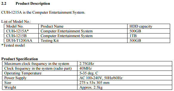 PS4 FCC
