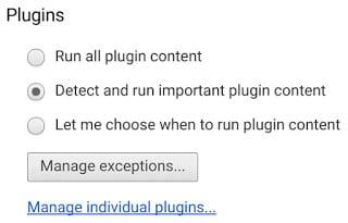 Google Chrome's Flash Blocker