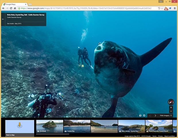 Google Street View Sunfish