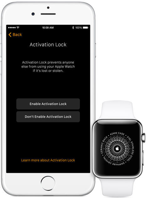 Apple Watch - watchOS 2 Activation Lock