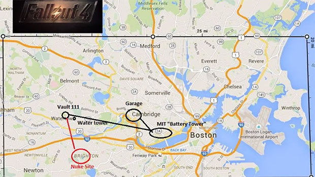 Fallout 4 - Boston Map