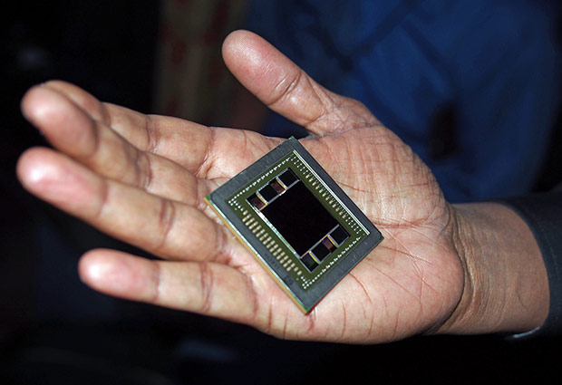 AMD Fiji GPU In Hand
