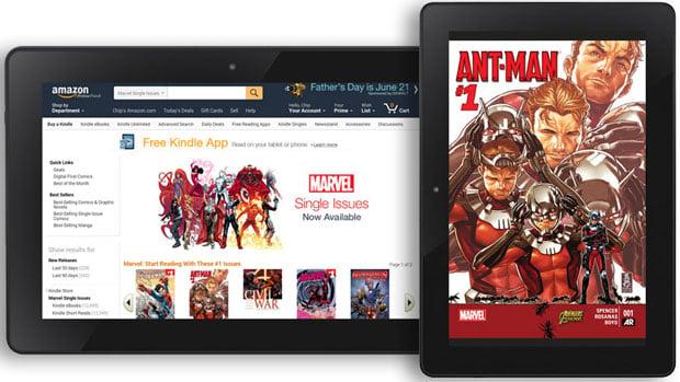 Amazon Kindle Marvel Comics