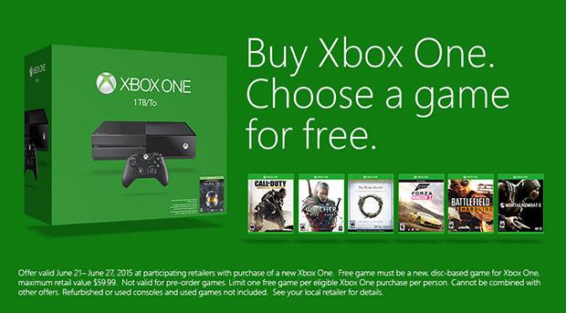Xbox One Free Game Promo