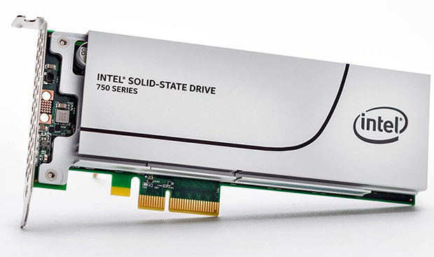 Intel SSD 750 Series PCIe NVMe Solid  State Drive - 1.2 Terabytes