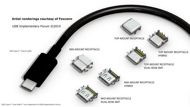 USB type C rendering