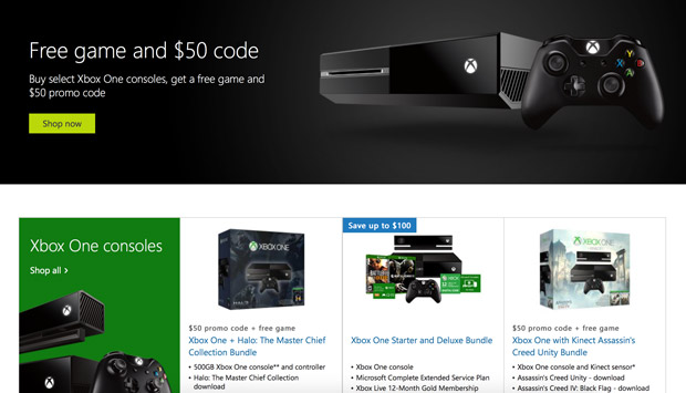 Buy An Xbox One And Receive Additional Free Game Plus $50