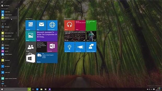 Microsoft Windows 10 Desktop