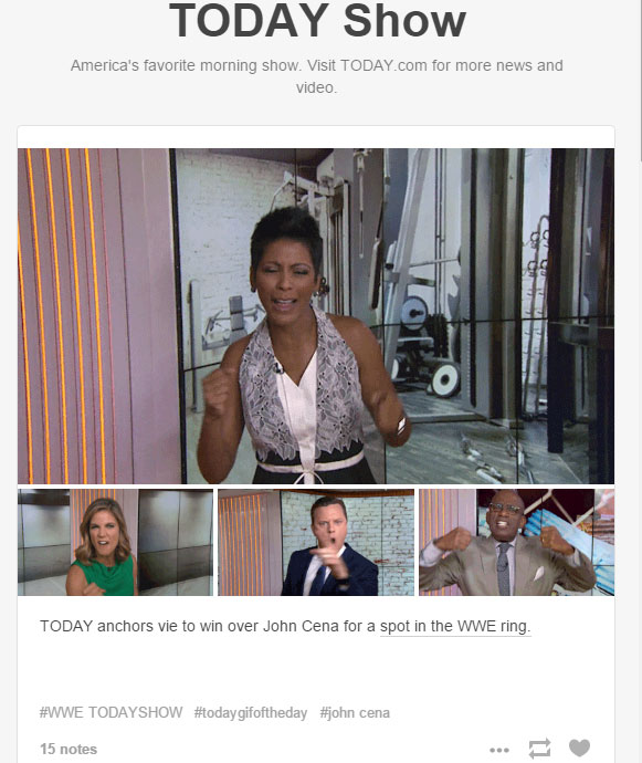 Today Show Tumblr TV