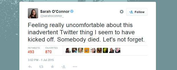 Sarah OConner Tweet Robot