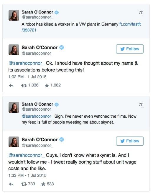 Sarah O'Connor Tweet
