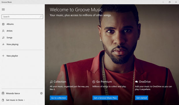 Groove Windows 10 Xbox
