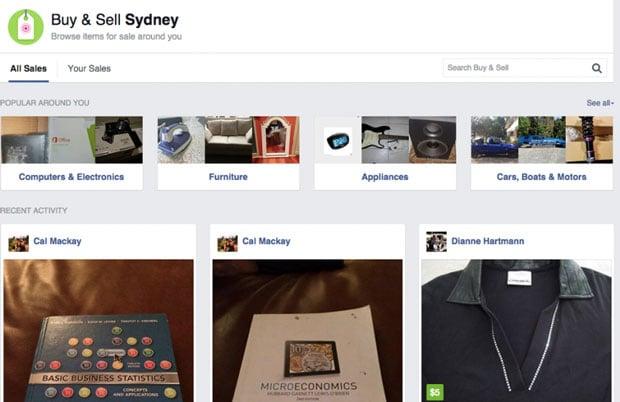 facebook buy sell sydne1y