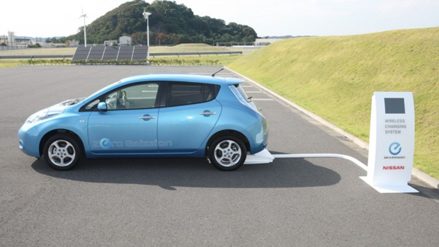 Stationary wireless charging system for the Nissan Leaf