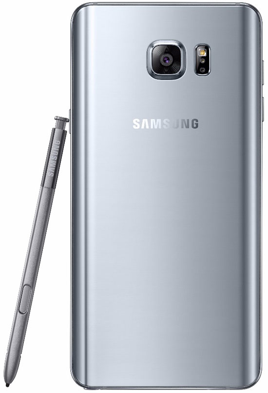 new Galaxy Note5 back with spen Silver Titanium