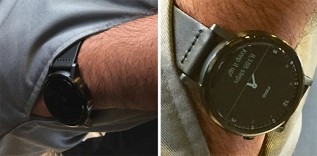 Moto 360 on Commuter Train