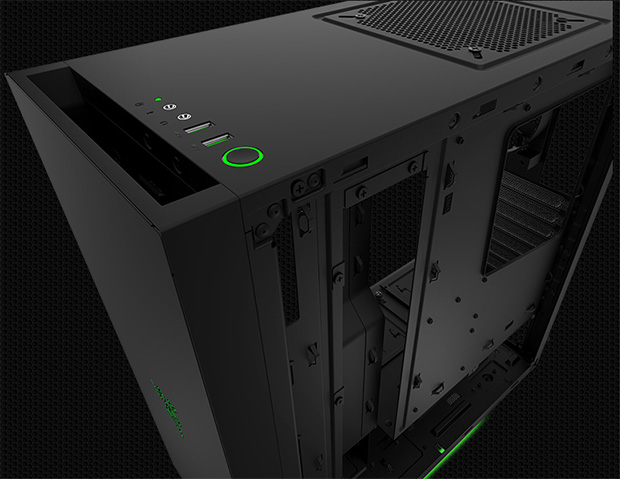 NZXT S340 Designed by Razer Right Side