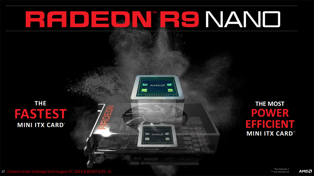 AMD Radeon R9 Nano Targets Mini ITX Gaming Systems With A Fury