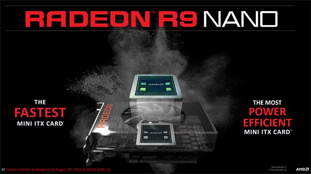 AMD Radeon R9 Nano Slide