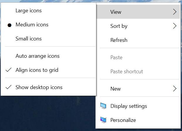 Windows 10 Context Menu