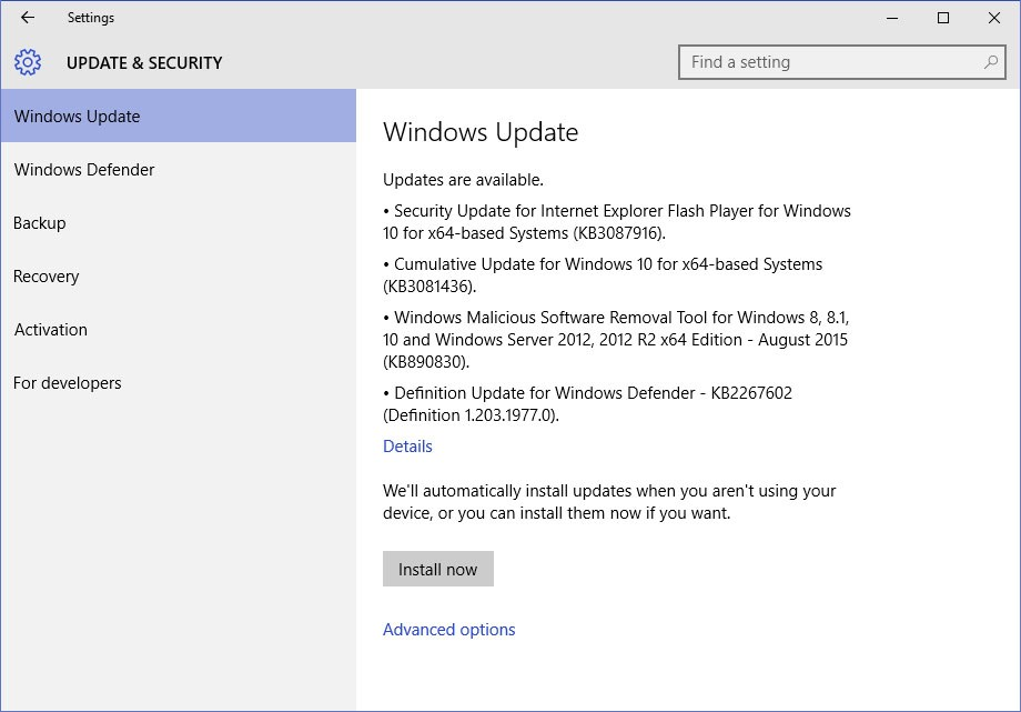 Microsoft May Provide Cumulative Update Details For Windows 10 Enterprise Users