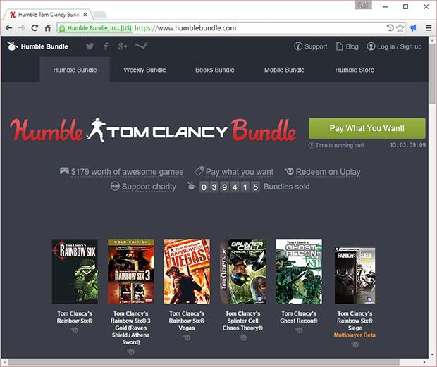 Tom Clancy Humble Bundle