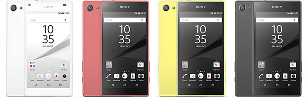 Sony Xperia Z5 Compact Color Range
