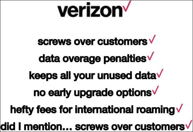 Verizon Checklist