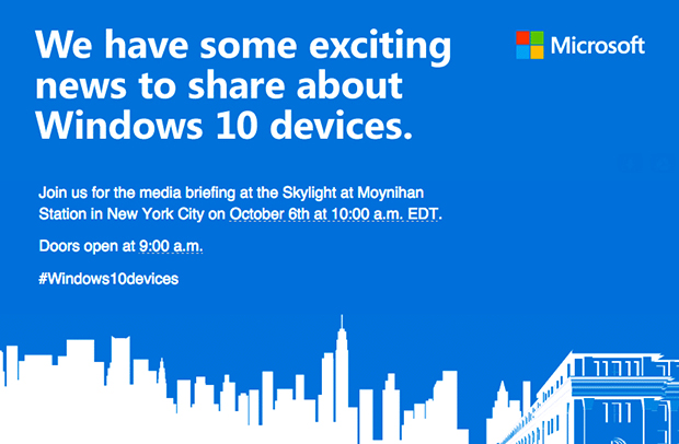 microsoft windows 10 hardware event