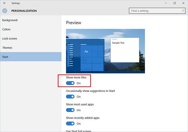 Windows 10 Start Improvements