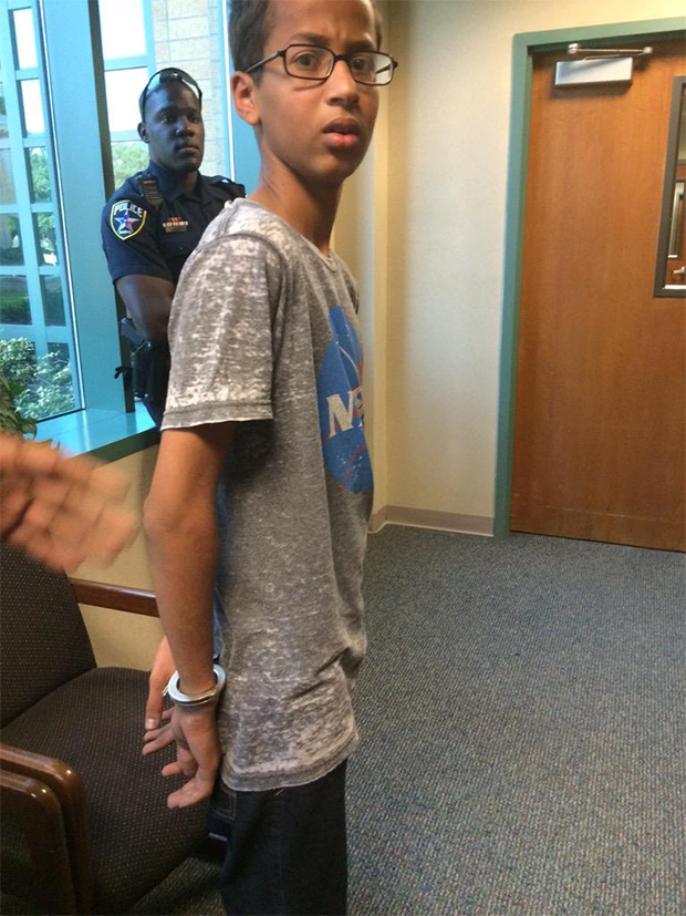 Ahmed Mohamed in Handcuffs