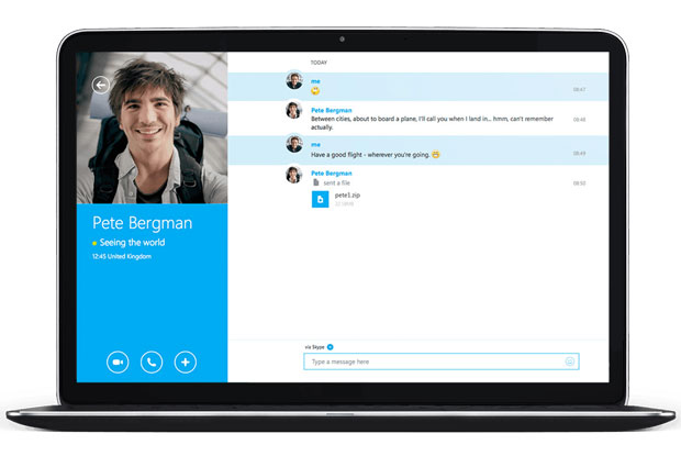 skype laptop
