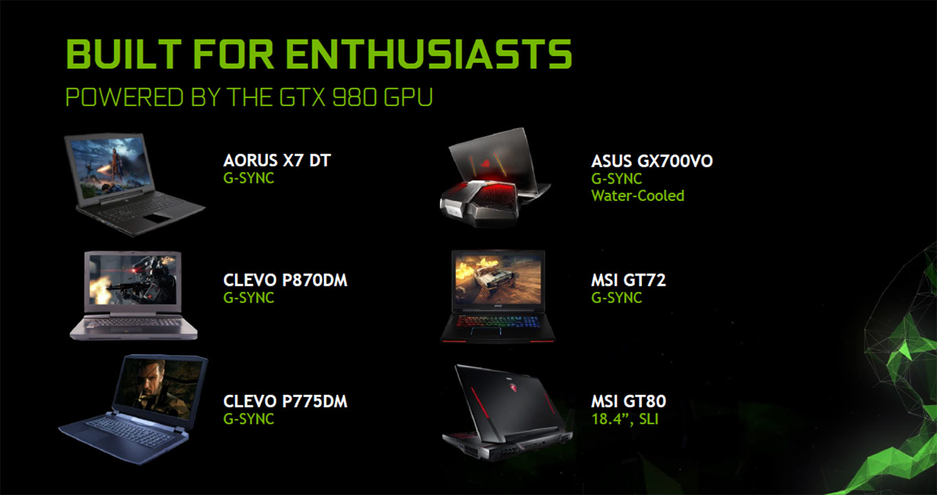 NVIDIA Announces GeForce GTX 980 GPU For High-End Gaming Notebooks