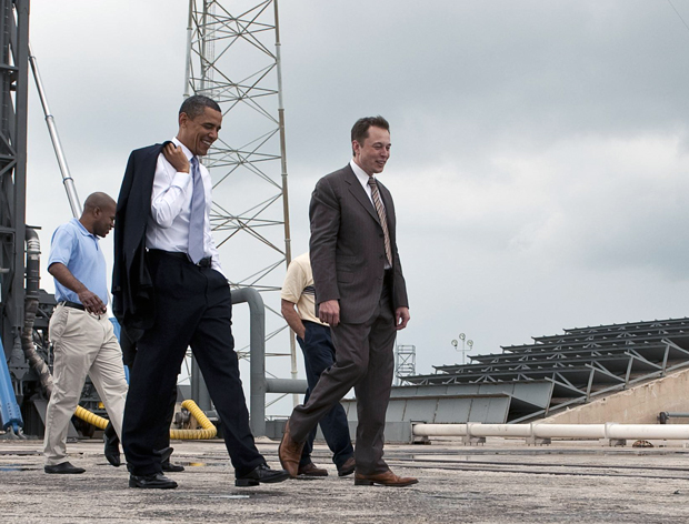 Elon Musk and President Obama
