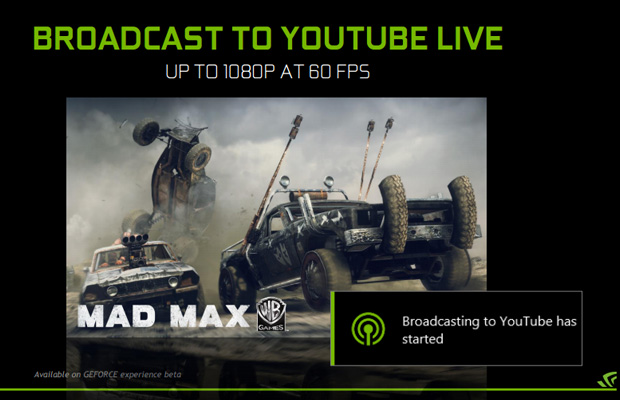 GeForce Experience Broadcast