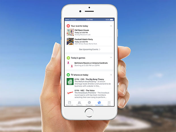 Facebook Notification Center