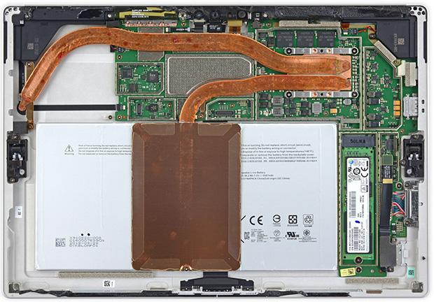 Surface Pro 4 Opened