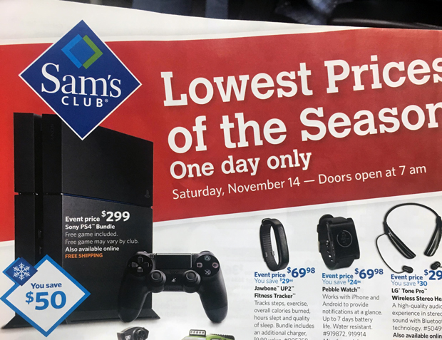 Sam's Club PlayStation 4 Pre-Black Friday Sale