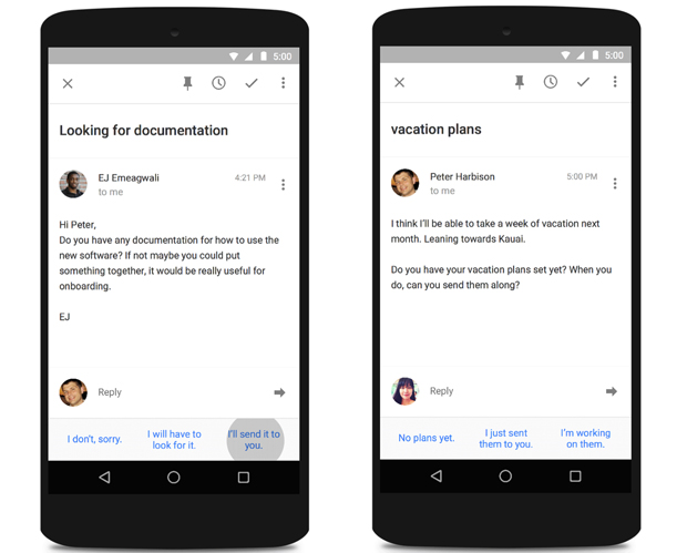 google smart reply