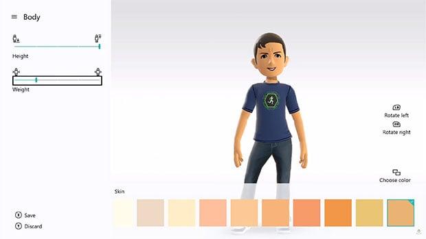 Xbox One Avatar Editor