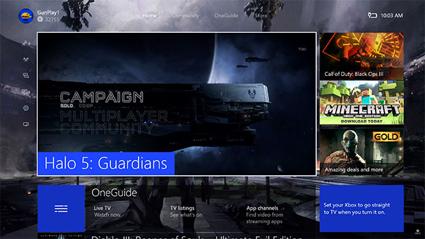 Xbox One OneGuide