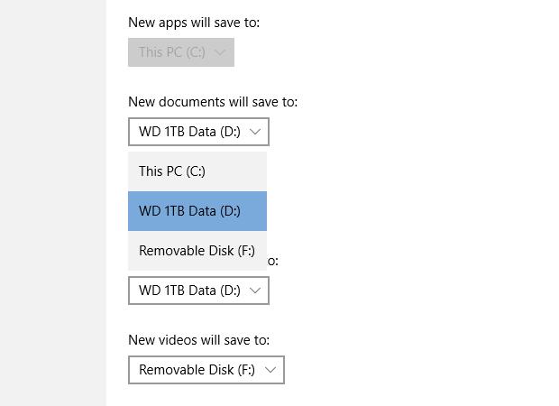 windows 10 save location setting